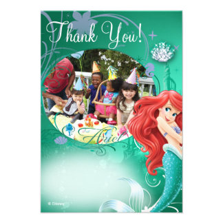 Ariel Birthday Thank You Cards Personalized Invites
