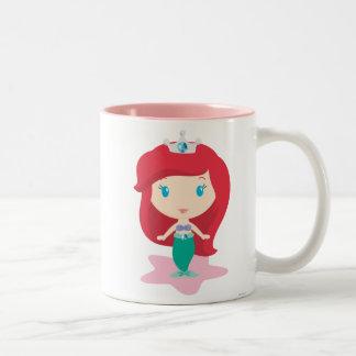 Ariel Cartoon Two-Tone Coffee Mug