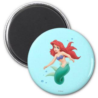 Ariel con las burbujas imán redondo 5 cm