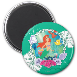 Ariel - Curious 2 2 Inch Round Magnet