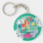 Ariel - Curious 2 Basic Round Button Keychain
