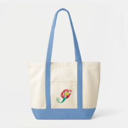 Impulse Tote Bag with Ariel with friends Flounder & Sebastian design