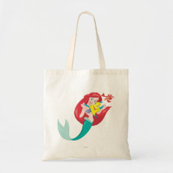 Budget Tote with Ariel with friends Flounder & Sebastian design