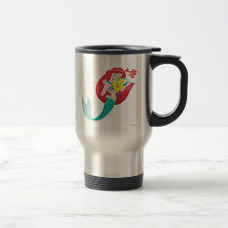 Travel / Commuter Mug with Ariel with friends Flounder & Sebastian design