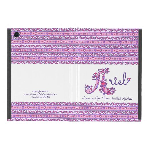 Ariel girls A name and meaning purple pink case