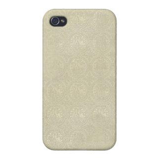 Ariel: Gold Sand Damask Print iPhone 4 Case