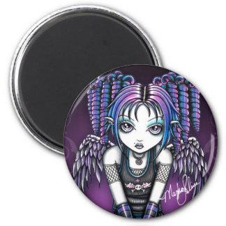 Ariel Gothic Knealing Angel 2 Inch Round Magnet