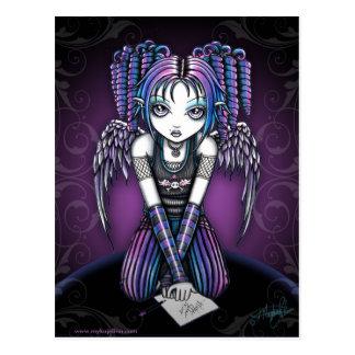 Ariel Gothic Knealing Fairy Postcard