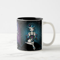myka, jelina, gracie, faerie, fairie, fairy, faery, fae, couture, corset, gothic, angel, tattoo, teal, purple, magical, guardian, butterfly, art, Mug with custom graphic design