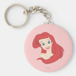 Basic Button Keychain with Beautiful Ariel The Little Mermaid design