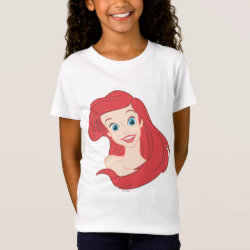Girls' Fine Jersey T-Shirt with Beautiful Ariel The Little Mermaid design