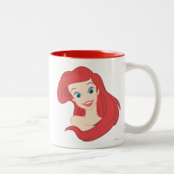 Beautiful Ariel The Little Mermaid Two-Tone Mug