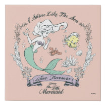Ariel | I Shine Like the Sea Faux Canvas Print