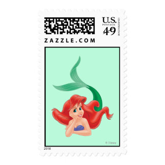 Ariel Laying Down Postage Stamps