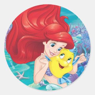 Ariel | Make Time For Buddies Classic Round Sticker
