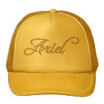 ARIEL Nombre-Calificó el casquillo personalizado d Gorra
