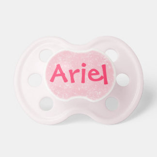 """""""Ariel"""" Personalized Name Pink Glitter Pacifier"""