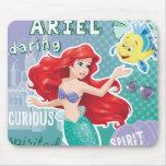 Ariel - princesa brillante del alcohol alfombrillas de raton
