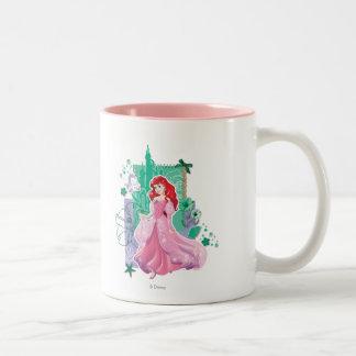 Ariel - princesa enérgica taza de café de dos colores