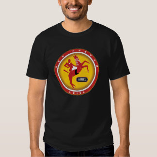Ariel red hunter motorcycle sign t-shirt