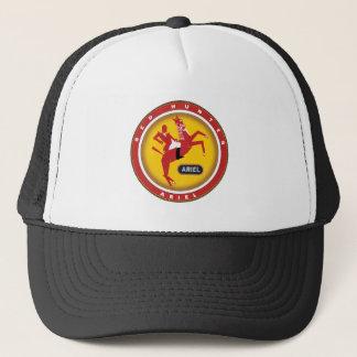 Ariel red hunter motorcycle sign trucker hat