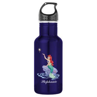 Ariel Sitting on Rock 18oz Water Bottle