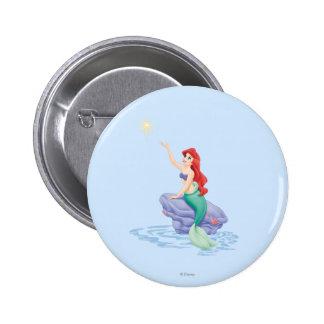 Ariel Sitting on Rock Button