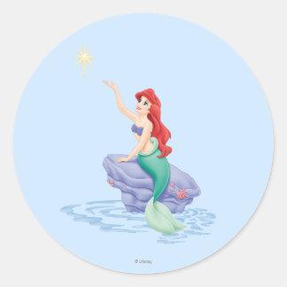 Ariel Sitting on Rock Classic Round Sticker