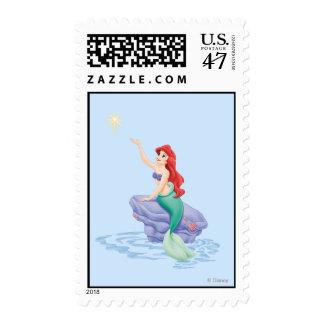 Ariel Sitting on Rock Postage Stamp