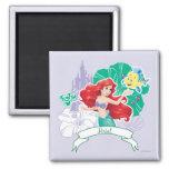 Ariel - Spirited 2 Inch Square Magnet