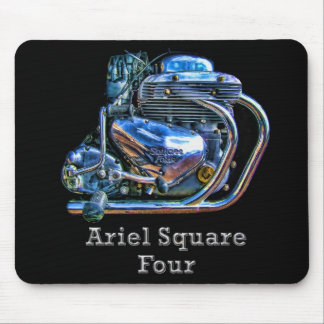 Ariel Square Four Motorcycle Engine Mousemat Mouse Pad
