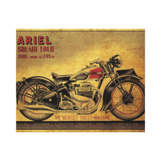 Ariel Square Four vintage motorcycle Canvas Print