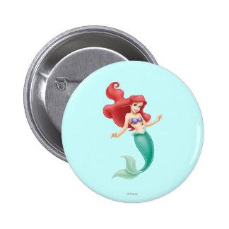 Ariel Swimming Pinback Button