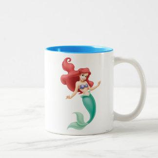 Ariel Swimming Two-Tone Coffee Mug