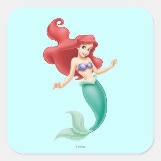 Ariel Swimming Square Sticker