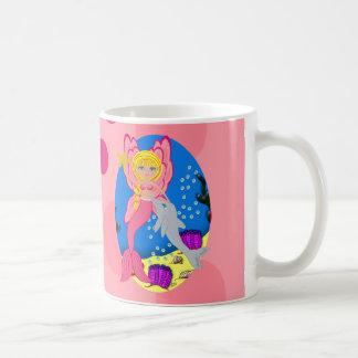 Ariel the Pink Merfaery and Dolphin Mug