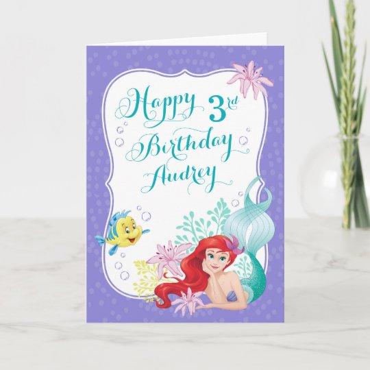 Ariel Under The Sea Adventure Happy Birthday Card Zazzle