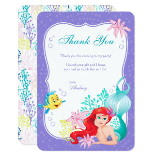 Ariel | Under the Sea Adventure Thank You Card