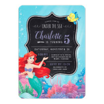 Ariel | Under the Sea ChalkboardBirthday Invitation