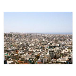 Ariel View of Athens, Greece Postcard