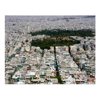 Ariel View of Athens on a Postcard