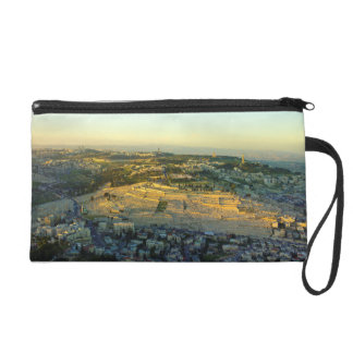 Ariel View of the Mount of Olives Jersalem Israel Wristlet Purses