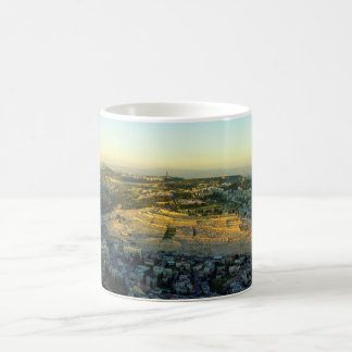 Ariel View of the Mount of Olives Jersalem Israel Coffee Mug