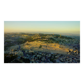 Ariel View of the Mount of Olives Jersalem Israel Poster
