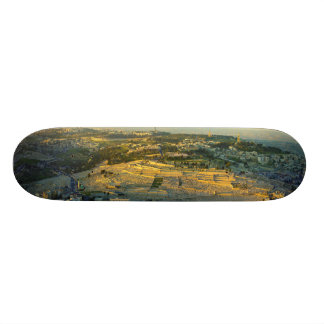 Ariel View of the Mount of Olives Jersalem Israel Custom Skate Board