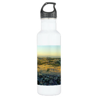 Ariel View of the Mount of Olives Jersalem Israel Stainless Steel Water Bottle