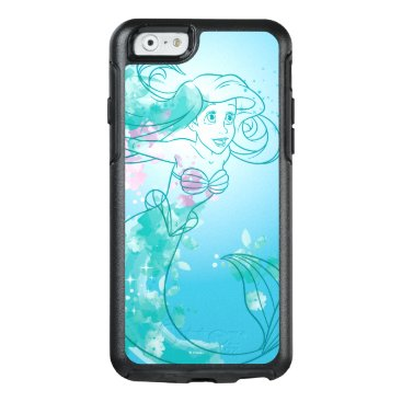 Disney Themed Ariel   Watercolor Outline OtterBox iPhone 6/6s Case