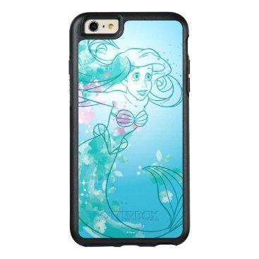 Disney Themed Ariel   Watercolor Outline OtterBox iPhone 6/6s Plus Case