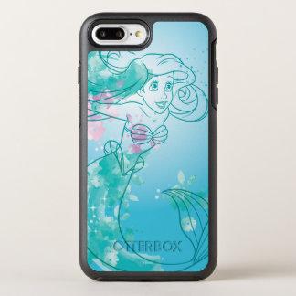Ariel | Watercolor Outline OtterBox Symmetry iPhone 8 Plus/7 Plus Case