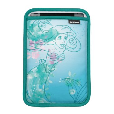 Disney Themed Ariel   Watercolor Outline Sleeve For iPad Mini